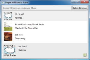 Media Player App Screenshot